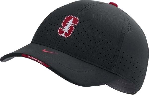 Nike Men's Stanford Cardinal AeroBill Swoosh Flex Classic99 Football Sideline Black Hat product image