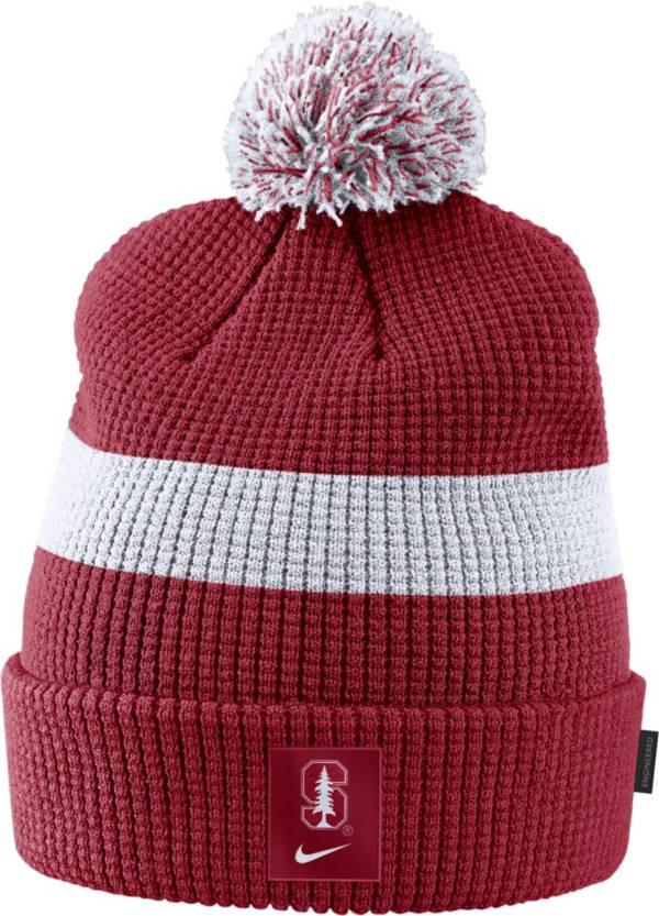 Nike Men's Stanford Cardinal Cardinal Football Sideline Pom Beanie product image