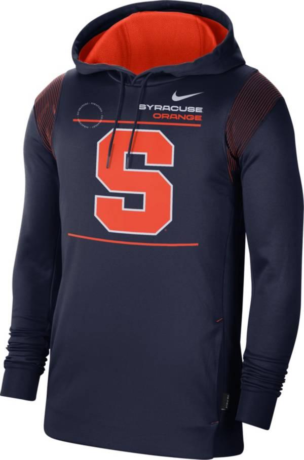 Nike Men's Syracuse Orange Blue Therma Performance Pullover Hoodie product image
