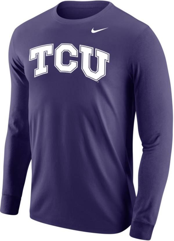 Nike Men's TCU Horned Frogs Purple Core Cotton Long Sleeve T-Shirt product image
