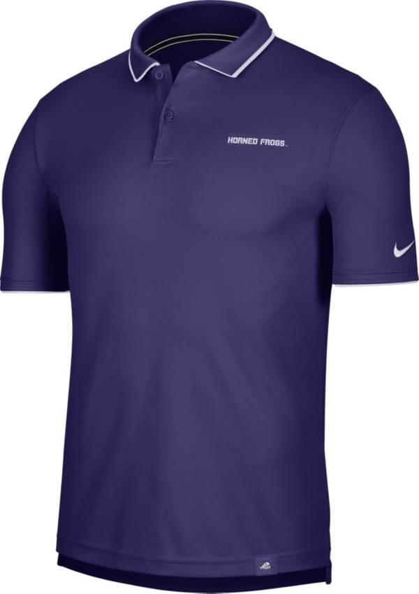 Nike Men's TCU Horned Frogs Purple Dri-FIT UV Polo product image
