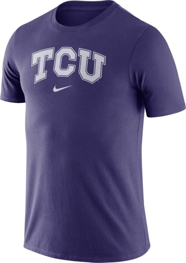 Nike Men's TCU Horned Frogs Purple Essential Logo T-Shirt product image