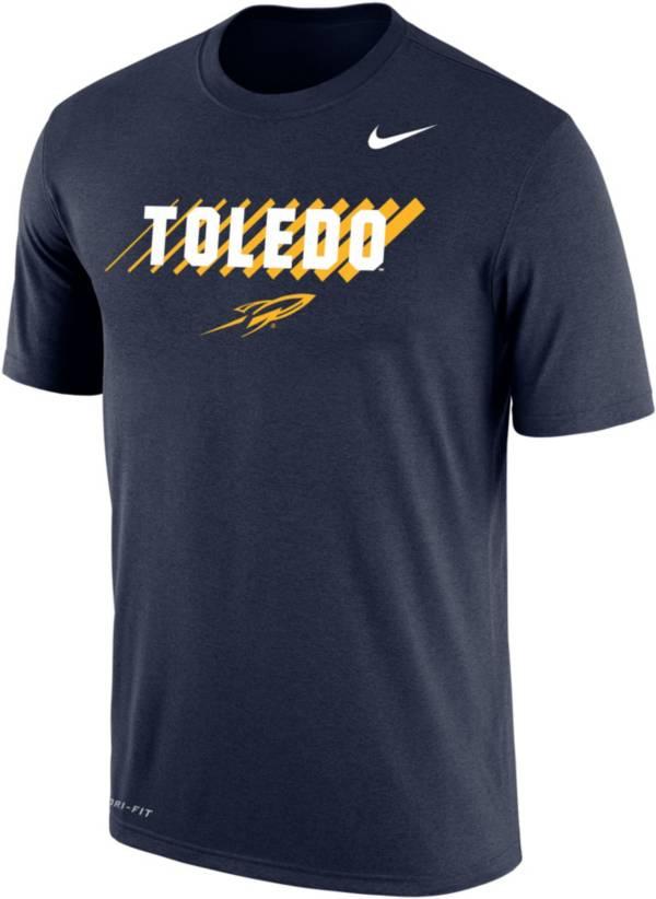 Nike Men's Toledo Rockets Midnight Blue Dri-FIT Cotton T-Shirt product image