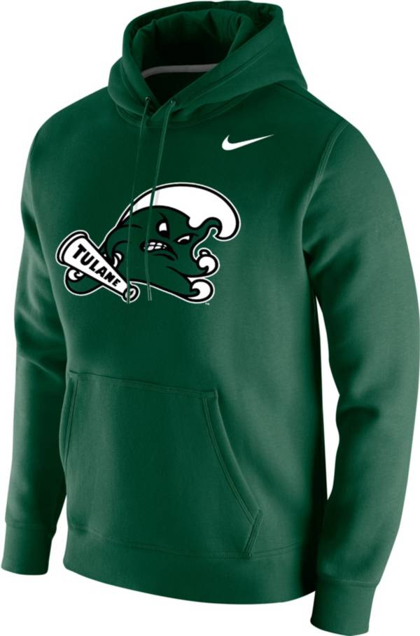 Nike Men's Tulane Green Wave Olive Club Fleece Pullover Hoodie product image
