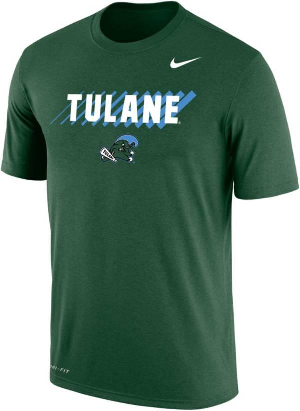 Nike Men's Tulane Green Wave Olive Dri-FIT Cotton T-Shirt product image