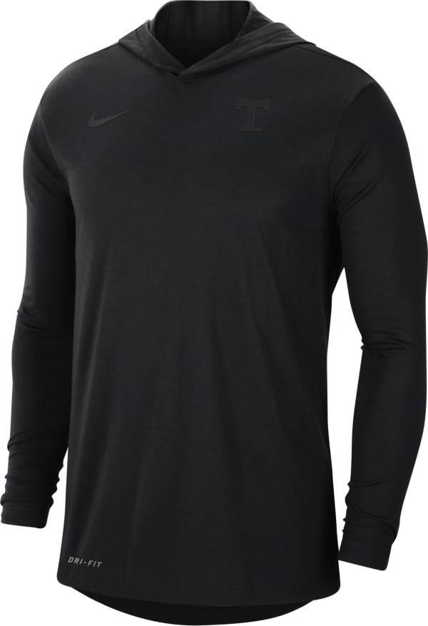 Nike Men's Tennessee Volunteers Black Dri-FIT Vapor Pinnacle Long Sleeve Hoodie T-Shirt product image