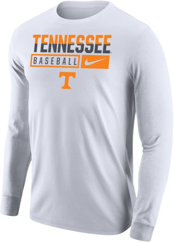 Nike Men's Tennessee Volunteers Baseball Core Cotton Long Sleeve White T-Shirt product image