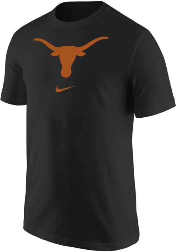 Nike Men's Texas Longhorns Core Cotton Logo Black T-Shirt product image