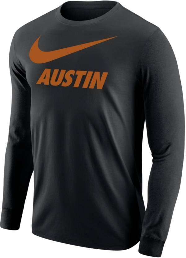 Nike Men's Austin City Long Sleeve Black T-Shirt product image