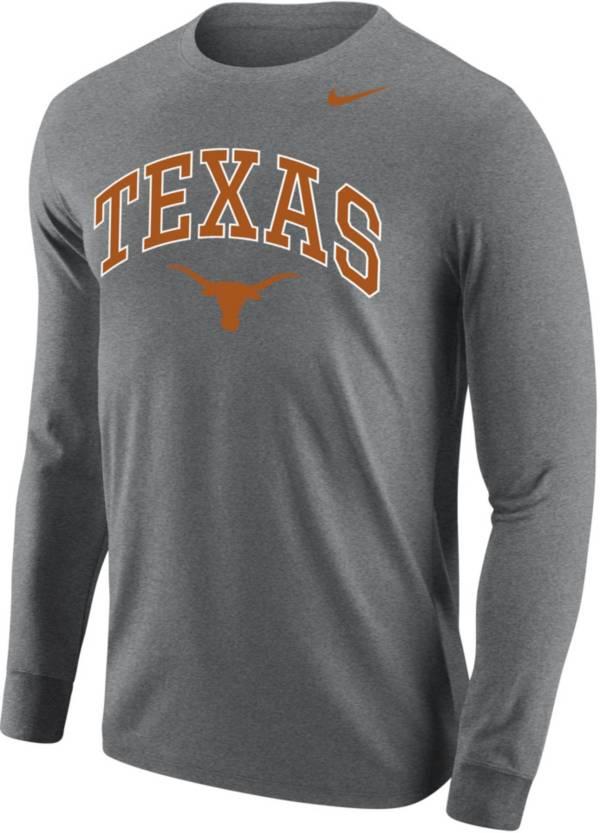 Nike Men's Texas Longhorns Grey Core Cotton Long Sleeve T-Shirt product image