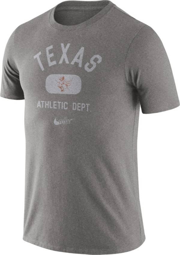 Nike Men's Texas Longhorns Grey Tri-Blend Old School Arch T-Shirt product image