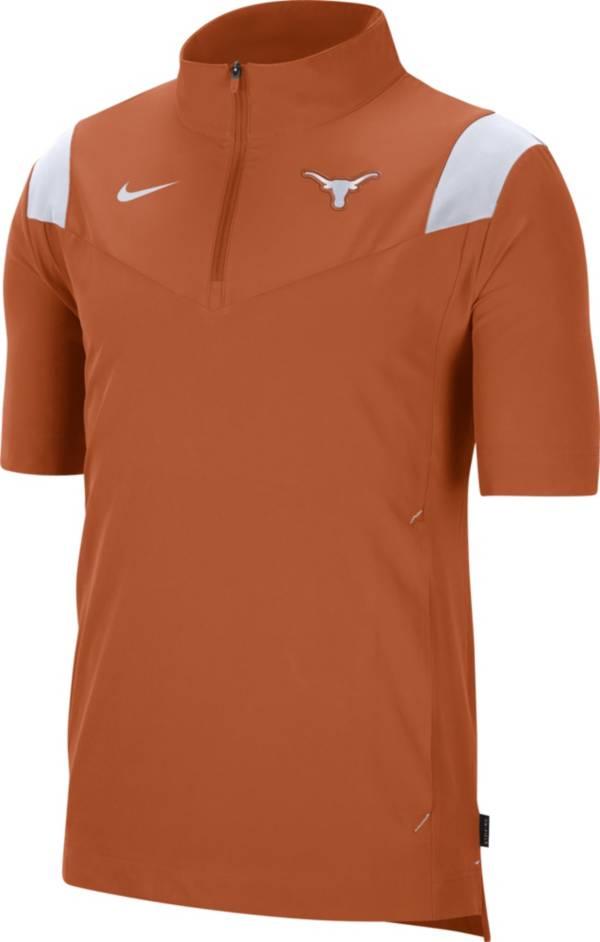 Nike Men's Texas Longhorns Burnt Orange Football Sideline Coach Short Sleeve Jacket product image