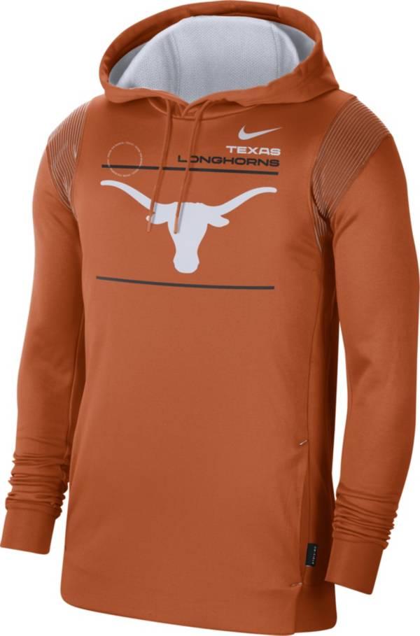 Nike Men's Texas Longhorns Burnt Orange Therma Performance Pullover Hoodie product image