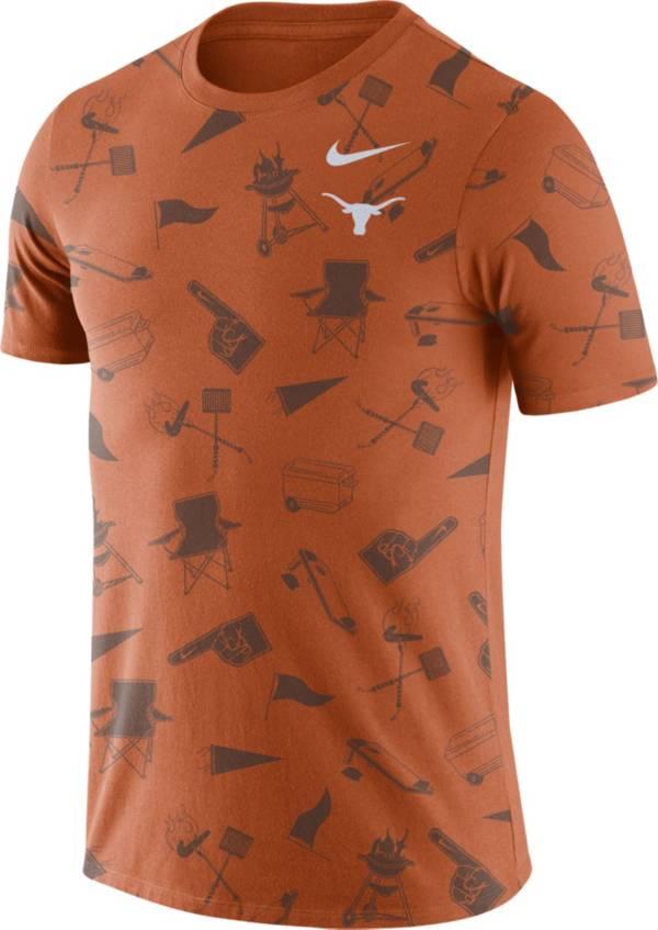 Nike Men's Texas Longhorns Burnt Orange Tailgate Print T-Shirt product image
