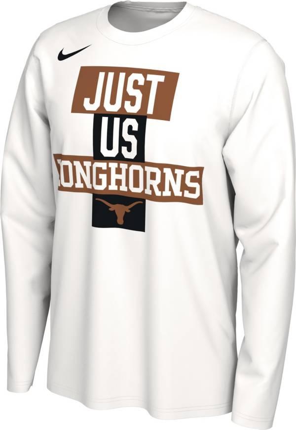 Nike Men's Texas Longhorns 'Just Us' Bench Long Sleeve T-Shirt product image