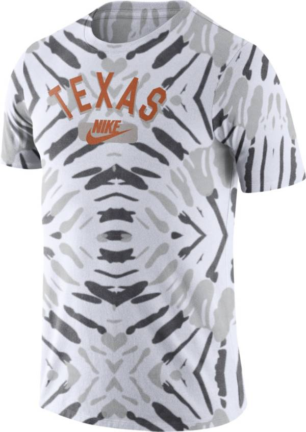 Nike Men's Texas Longhorns White Tie-Dye Festival T-Shirt product image