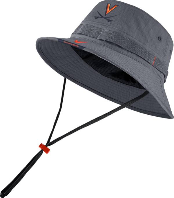 Nike Men's Virginia Cavaliers Grey Dri-FIT Football Sideline Bucket Hat product image