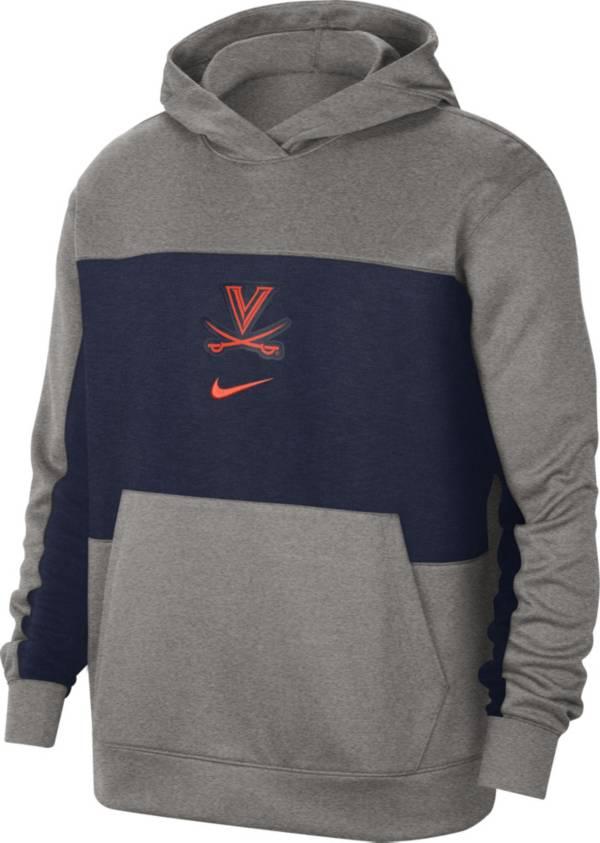 Nike Men's Virginia Cavaliers Grey Dri-FIT Spotlight Pullover Hoodie product image