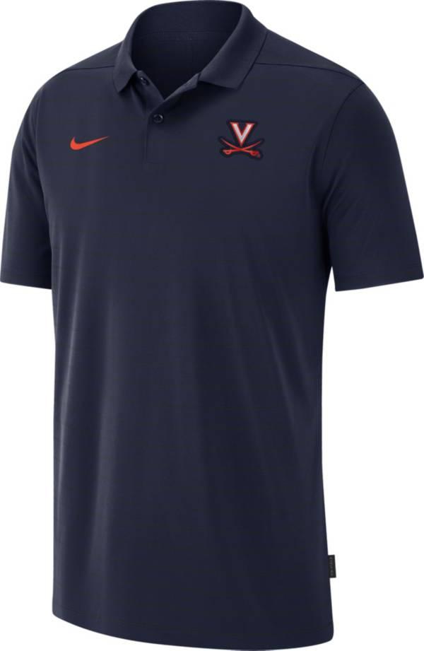 Nike Men's Virginia Cavaliers Blue Football Sideline Victory Polo product image