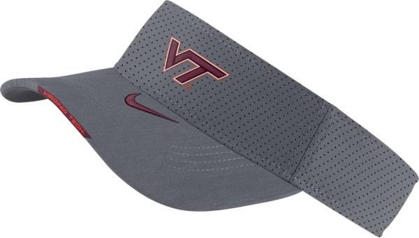 Nike Men's Virginia Tech Hokies Grey Aero Football Sideline Visor product image