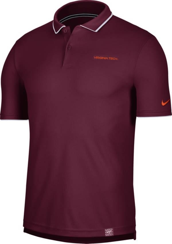 Nike Men's Virginia Tech Hokies Maroon Dri-FIT UV Polo product image