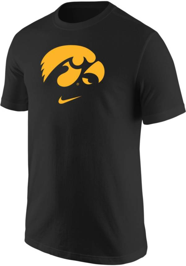 Nike Men's Iowa Hawkeyes Core Cotton Logo Black T-Shirt product image