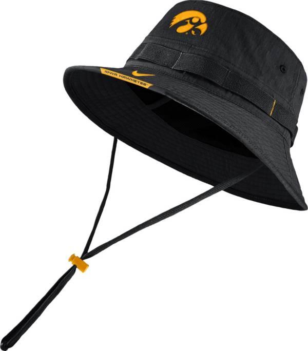 Nike Men's Iowa Hawkeyes Dri-FIT Football Sideline Bucket Black Hat product image