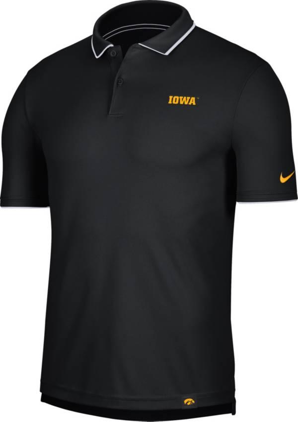 Nike Men's Iowa Hawkeyes Dri-FIT UV Black Polo product image