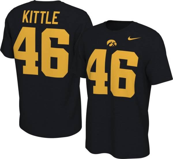 Nike Men's Iowa Hawkeyes George Kittle #46 Football Jersey Black T-Shirt product image