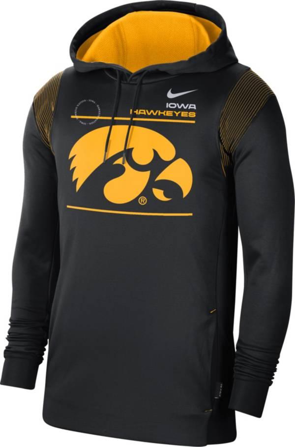 Nike Men's Iowa Hawkeyes Therma Performance Pullover Black Hoodie product image