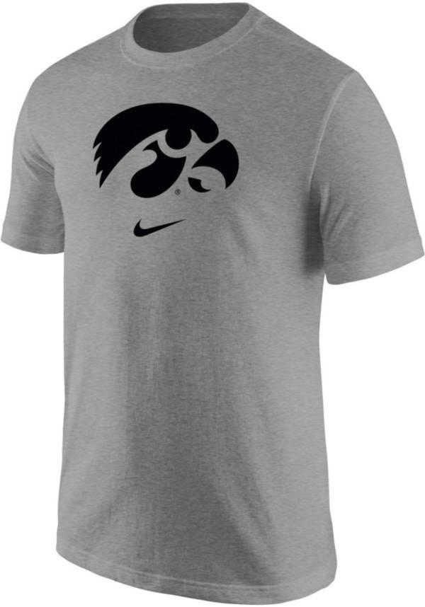Nike Men's Iowa Hawkeyes Grey Core Cotton Logo T-Shirt product image