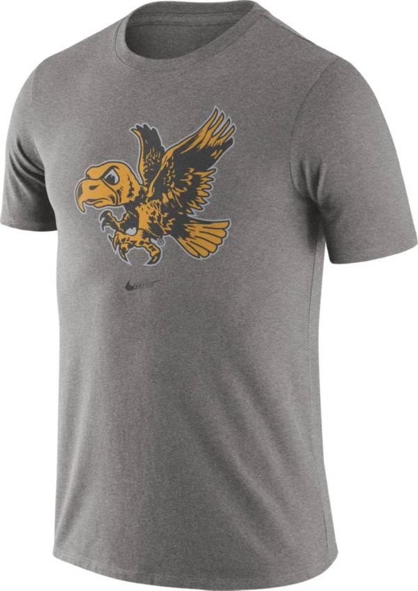 Nike Men's Iowa Hawkeyes Grey Retro Logo T-Shirt product image
