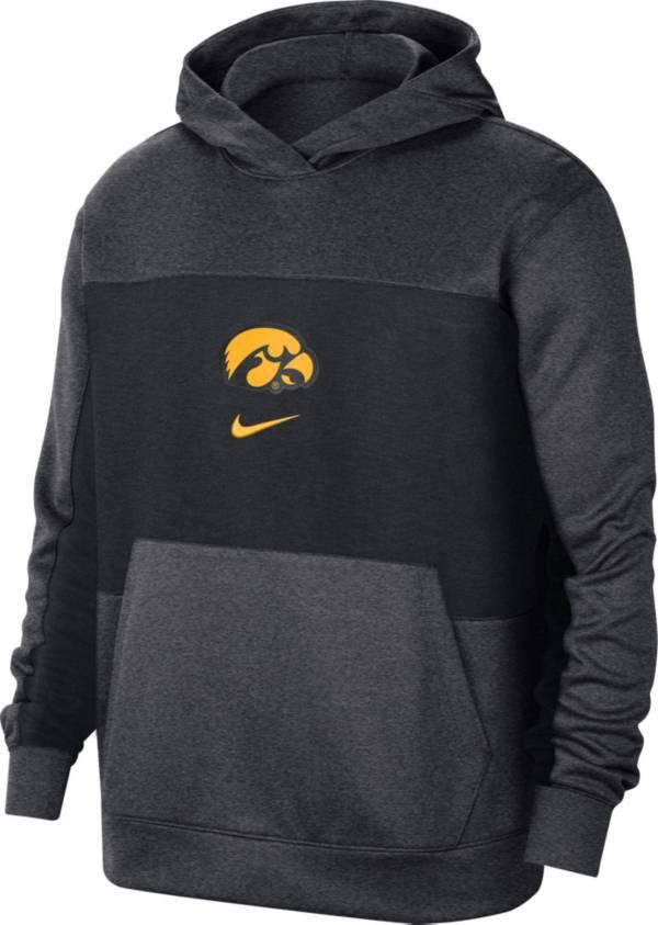 Nike Men's Iowa Hawkeyes Grey Dri-FIT Spotlight Pullover Hoodie product image