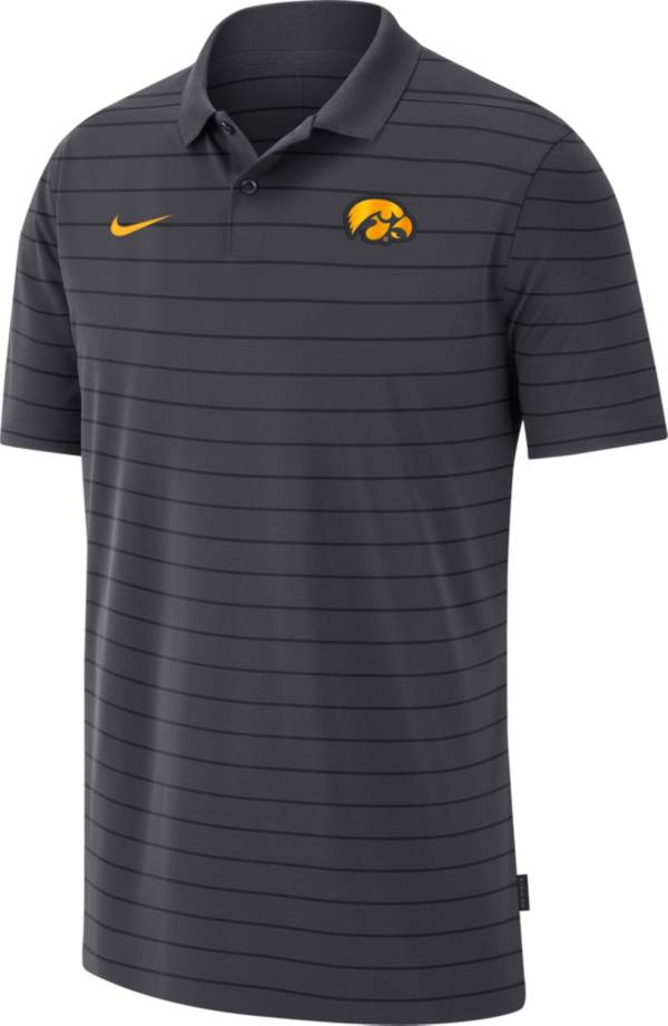 Nike Men's Iowa Hawkeyes Grey Football Sideline Victory Polo product image