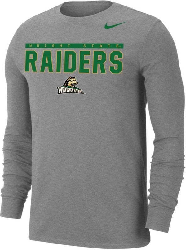 Nike Men's Wright State Raiders Grey Dri-FIT Cotton Long Sleeve T-Shirt product image