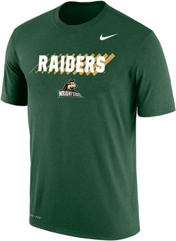 Nike Men's Wright State Raiders Green Dri-FIT Cotton T-Shirt product image