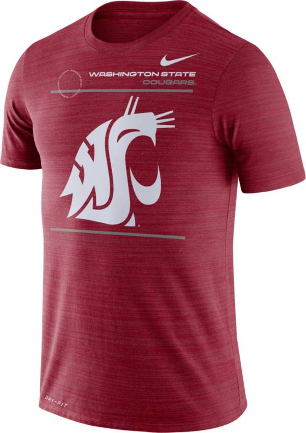 Nike Men's Washington State Cougars Crimson Dri-FIT Velocity Football Sideline T-Shirt product image