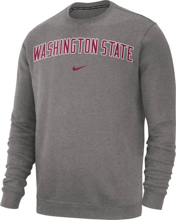 Nike Men's Washington State Cougars Grey Club Fleece Crew Neck Sweatshirt product image