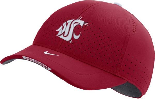 Nike Men's Washington State Cougars Crimson AeroBill Swoosh Flex Classic99 Football Sideline Hat product image