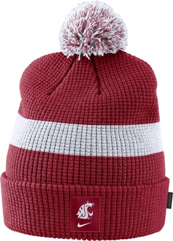 Nike Men's Washington State Cougars Crimson Football Sideline Pom Beanie product image