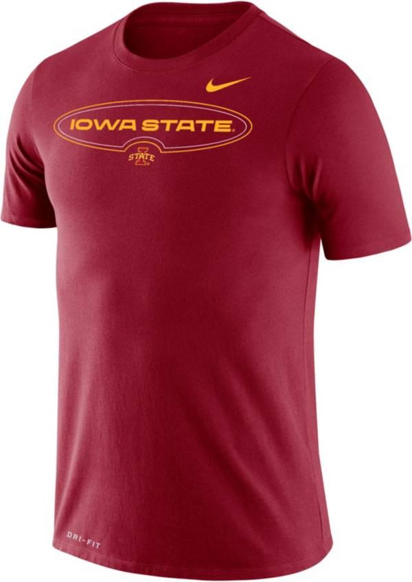Nike Men's Iowa State Cyclones Cardinal Dri-FIT Legend Wordmark T-Shirt product image