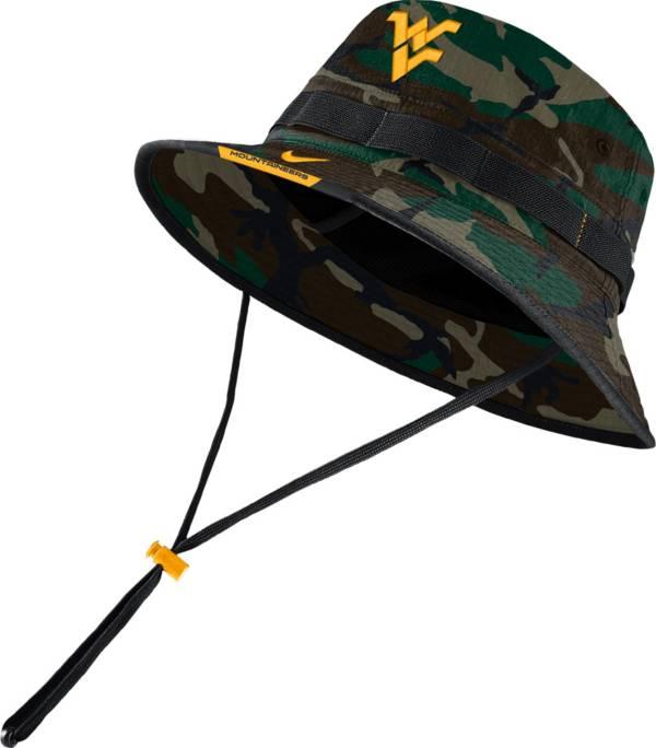 Nike Men's West Virginia Mountaineers Camo Dri-FIT Football Sideline Bucket Hat product image