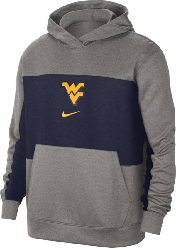 Nike Men's West Virginia Mountaineers Grey Dri-FIT Spotlight Pullover Hoodie product image