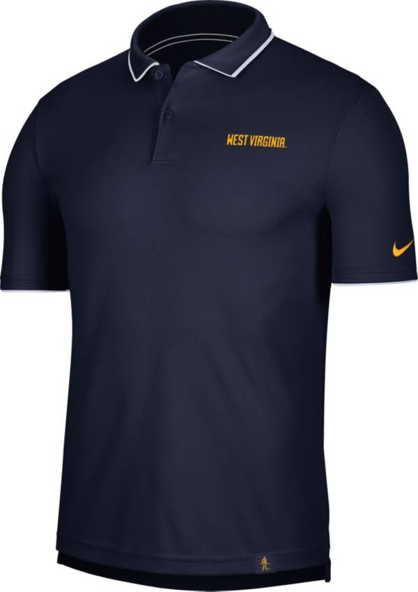 Nike Men's West Virginia Mountaineers Blue Dri-FIT UV Polo product image