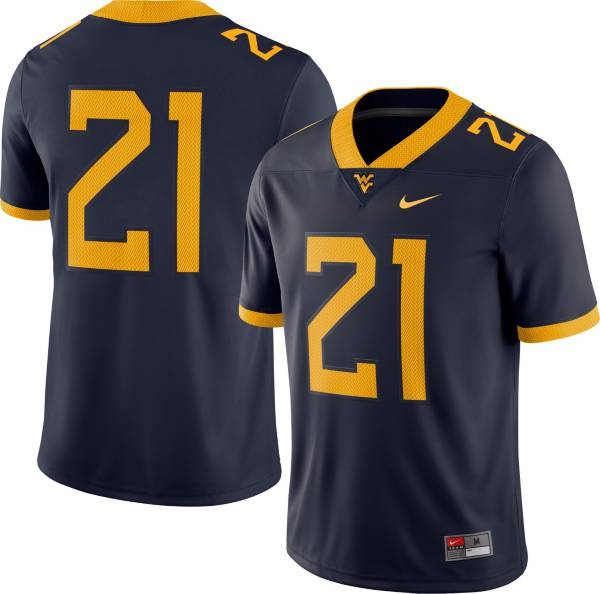 Nike Men's West Virginia Mountaineers #21 Blue Dri-FIT Game Football Jersey product image