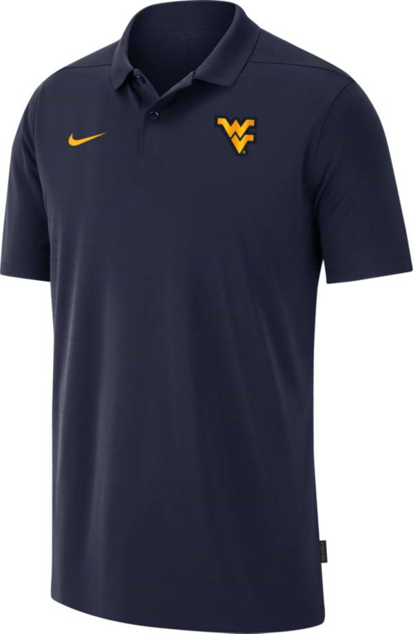 Nike Men's West Virginia Mountaineers Blue Football Sideline Victory Polo product image