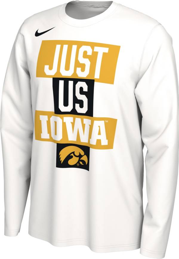 Nike Men's Iowa Hawkeyes 'Just Us' Bench Long Sleeve T-Shirt product image