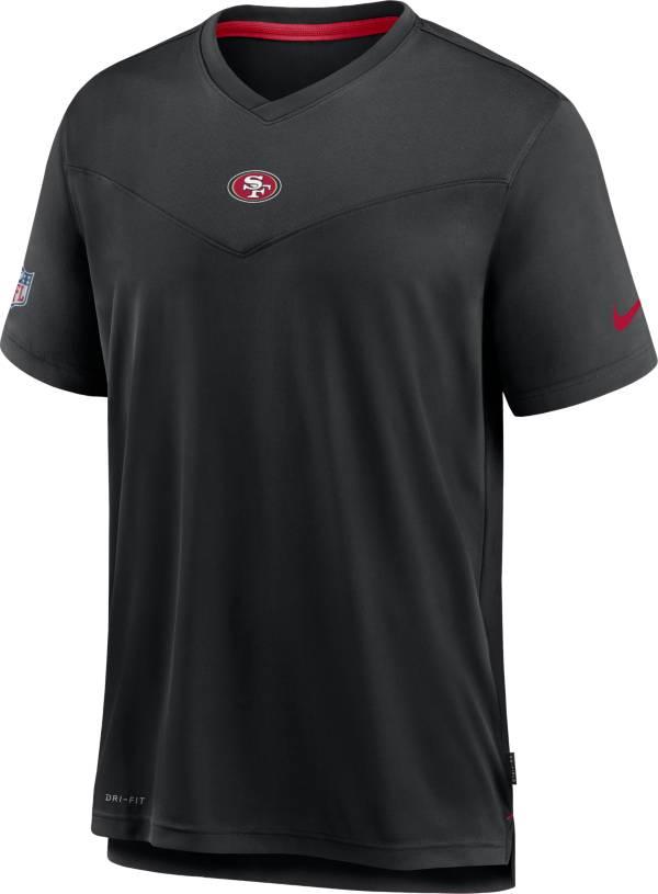 Nike Men's San Francisco 49ers Sideline Coaches Black T-Shirt product image