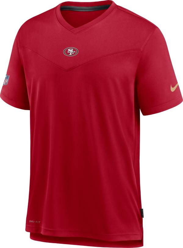 Nike Men's San Francisco 49ers Sideline Coaches Red T-Shirt product image