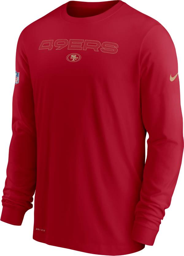 Nike Men's San Francisco 49ers Sideline Team Issue Red Long Sleeve T-Shirt product image
